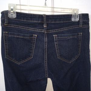 Cello- mid rise med/dark blue 5 pocket skinny jean